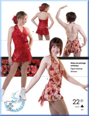 schnittmuster für kürkleider oder,eislaufkleider, tanzkleider ...